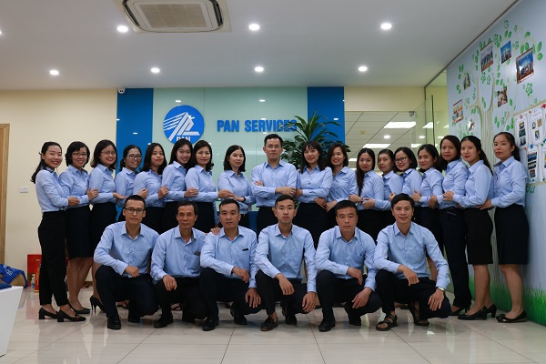 Đội ngũ nhân viên Pan Services Hà Nội