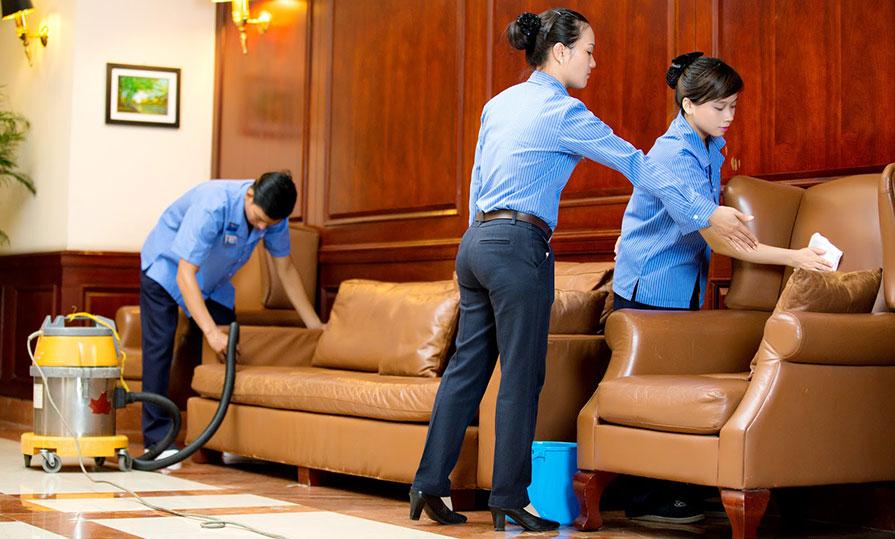 Quản lý dịch vụ vệ sinh tòa nhà văn phòng