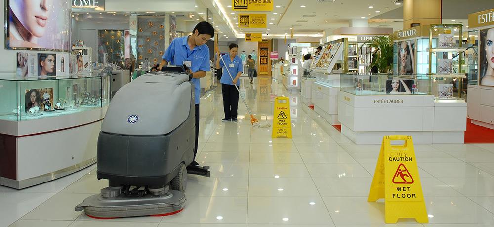 Dịch vụ vệ sinh siêu thị, trung tâm thương mại