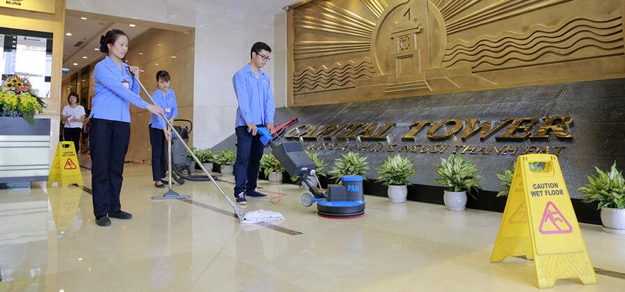 Tổng vệ sinh tòa nhà văn phòng