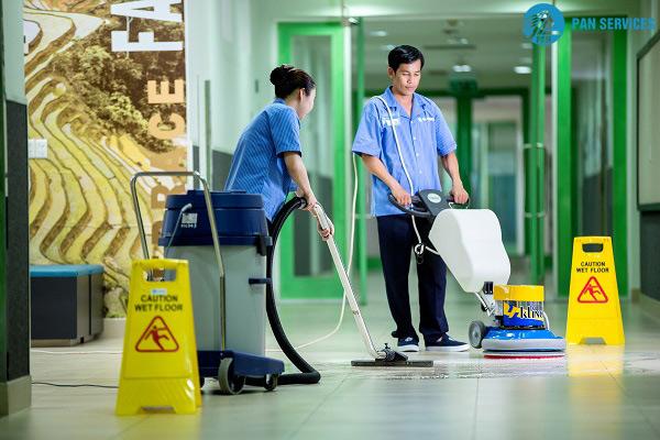 hoạt động vệ sinh là một phần của mô hình quản trị trung tâm thương mại