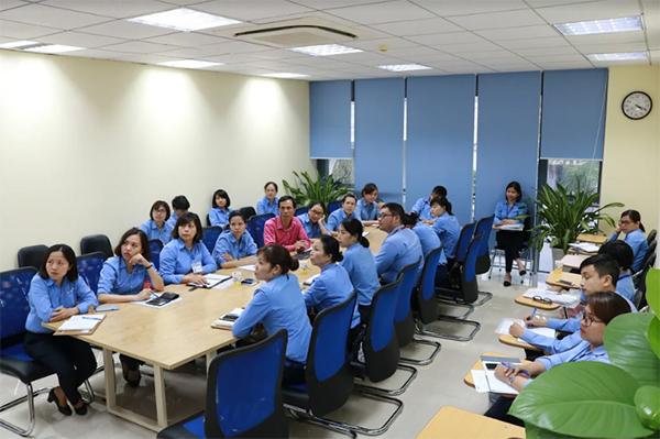 Đội ngũ nhân sự triển khai quy trình quản lý tòa nhà