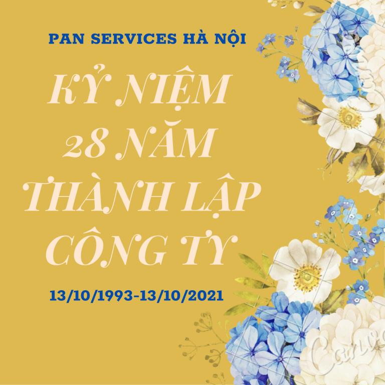 Kỷ niệm 28 năm thành lập công ty Pan Services.